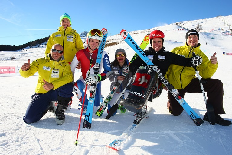 Gruppenbild des Athletenteam Ski Alpin